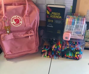 backpack, college, and colours image