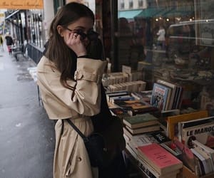 book store, books, and fashion image