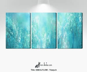 etsy, abstract canvas art, and triptych painting image