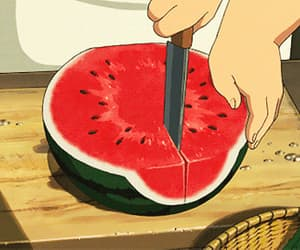 anime, chef, and cutting image