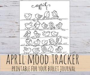 april, april bullet journal, and bujo april printable image