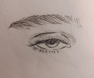 drawing, eye, and sketch image