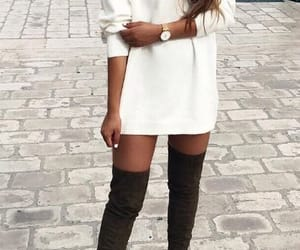 boots, clothes, and dress image