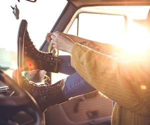 car, converse, and Road Trip image