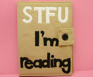 book, book case, and stfu image