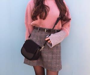 fashion, handbag, and sweater image
