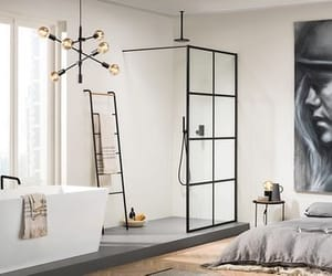 bathroom, bathtub, and shower image