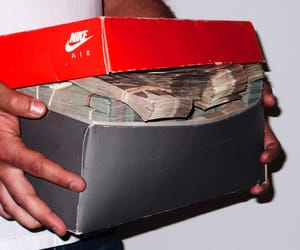 money, nike, and cash image