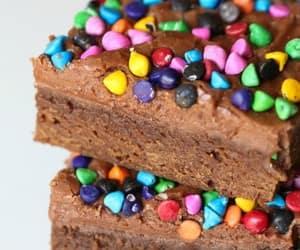 brownie, food, and sweet image