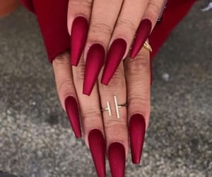 nails, art, and red image