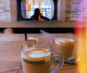 coffee, cozy, and fireplace image