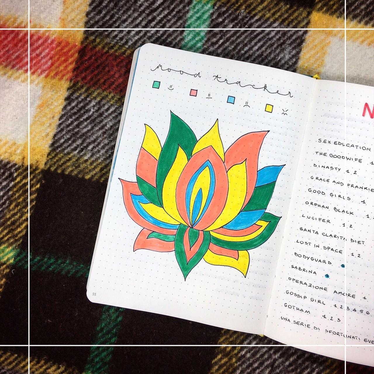 journal, bujo, and moodtracker image