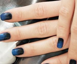 black, blue, and girlish image