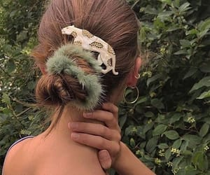 fashion, hair, and green image