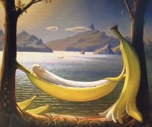 banana, art, and funny image