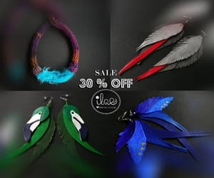 birds, colorful, and feather earrings image