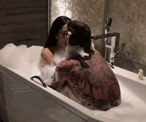 bubbles, couple, and fancy image