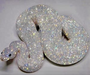 snake, glitter, and sparkle image