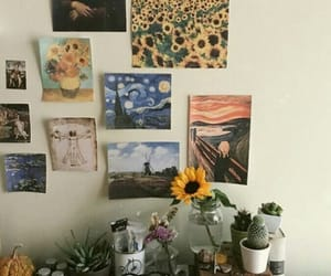 cactus, decor, and painting image