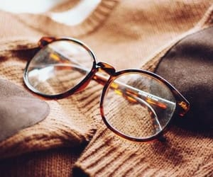 glasses, brown, and vintage image