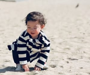 babys, beach, and asian kids image