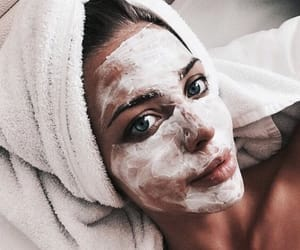 girl, beauty, and face mask image