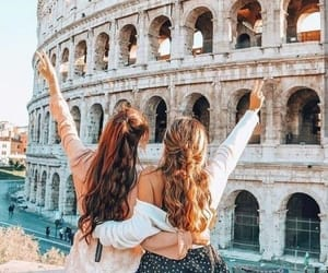 travel, friends, and italy image