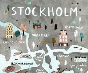 stockholm, map, and sweden image