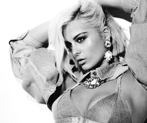 black and white and bebe rexha image