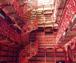 library, pink, and stunning image