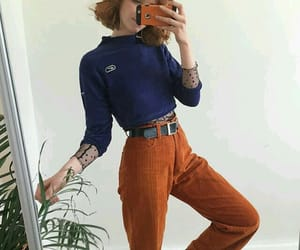 blouse, fashion, and orange image