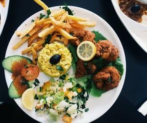 food, fries, and salad image