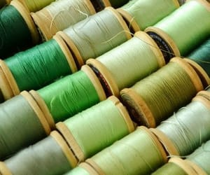 green, aesthetic, and sewing image