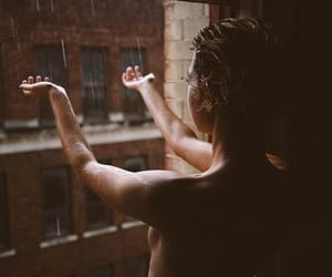 rain, girl, and woman image