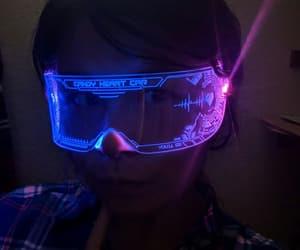 cyberpunk, cyberpunk glasses, and cyber visor purple image