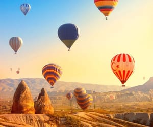 balloons, traveling, and vacation image