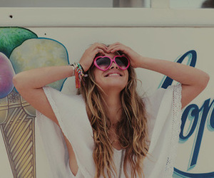 girl, Hot, and sunglasses image