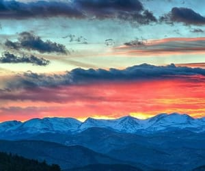 clouds, mountains, and asthetic image