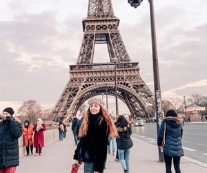 amour, eiffel tower, and girl image