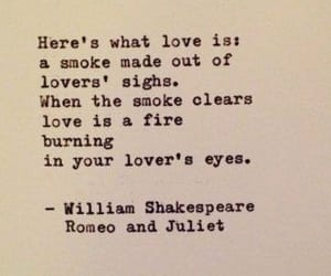 love, fire, and shakespeare image