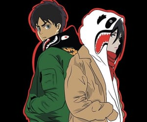 bape, mikasa ackerman, and attack on titan image
