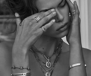 black and white, bracelet, and jewelry image