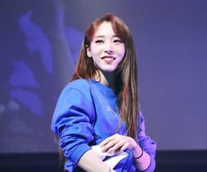 blue shirt, girl, and moonbyul image