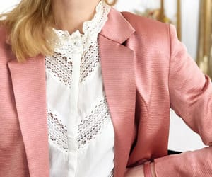 blazer, eyelet, and frills image