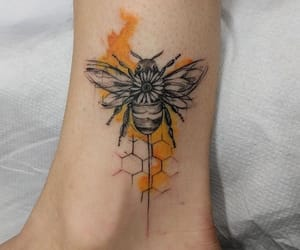 yellow and bee tattoo image