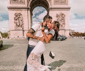 arc de triomphe, blogger, and couple image