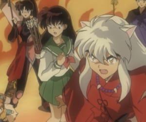 anime, kagome, and miroku image