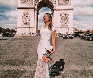 arc de triomphe, blogger, and fashion image