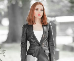 Scarlett Johansson, black widow, and Marvel image