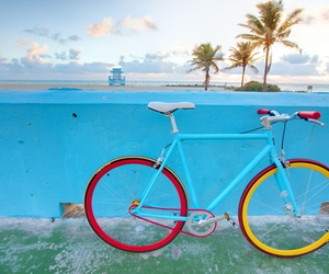 bicycle, bike, and blue image
